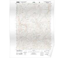 USGS Topo Map Oregon Quail Prairie Mountain 20110809 TM Poster