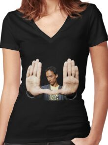 Abed Nadir Women's Fitted V-Neck T-Shirt