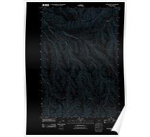 USGS Topo Map Oregon Gleason Butte 20110903 TM Inverted Poster