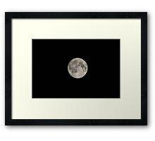 Full Moon and Black Sky Framed Print