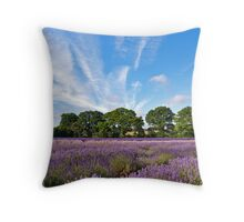 Lavender Fields near Selborne, Hampshire Throw Pillow