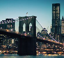 Brooklyn Bridge in the evening by smilyjay