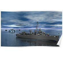 Anti Submarine Operations -- USS Kidd Poster
