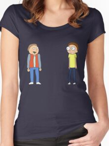 Mharti And Morty Women's Fitted Scoop T-Shirt