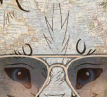 Hipster lobo Sticker