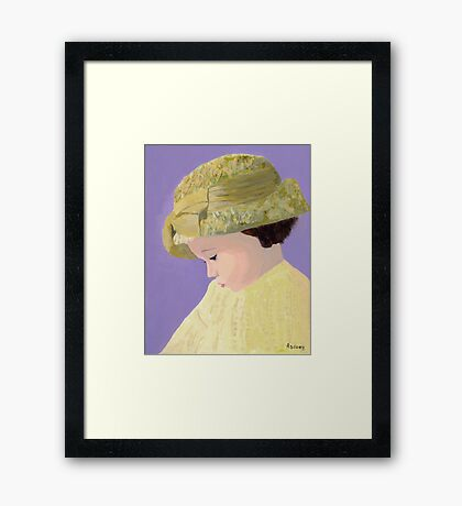 The Girl With The Straw Hat Framed Print