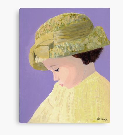 The Girl With The Straw Hat Canvas Print