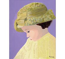 The Girl With The Straw Hat Photographic Print