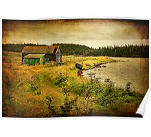 Black Duck Cove - textured Poster