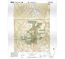USGS Topo Map Oregon China Flat 279347 1996 24000 Poster