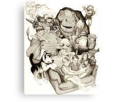 The Adventure of Reading Canvas Print