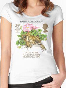 Natterjack Toad - Bufo calamita Women's Fitted Scoop T-Shirt