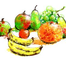 Scribbler fruit by Ann Mortimer