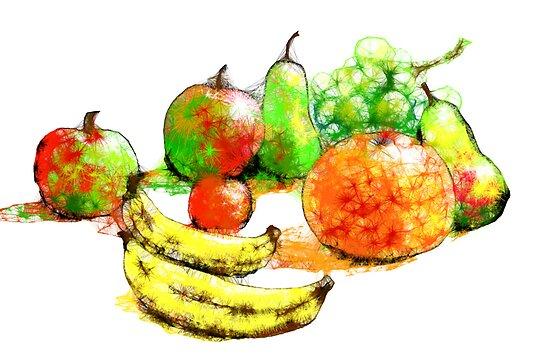 Scribbler fruit by Ann Mortimer