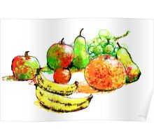 Scribbler fruit Poster