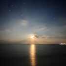 Maldivian Moonset by Dominic Kamp