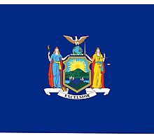 New York State Flag USA Bedspread T-Shirt Sticker Clothes Photographic Print