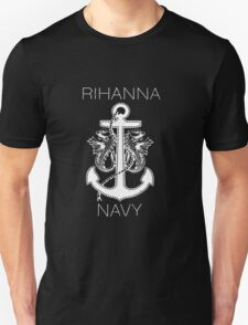 Rihanna Navy Design T-Shirt
