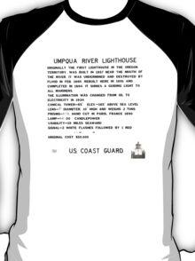 Umpqua River Lighthouse - U.S. Coast Guard T-Shirt