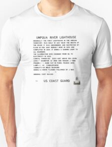 Umpqua River Lighthouse - U.S. Coast Guard T-Shirt