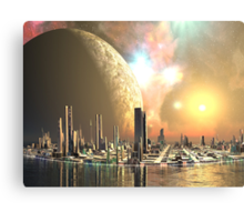 Utopia Islands - Cities of the Future Canvas Print