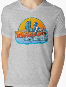 Wake Up San Francisco Mens V-Neck T-Shirt