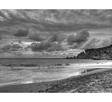 Wintry dusk - Golden Bay, Malta Photographic Print
