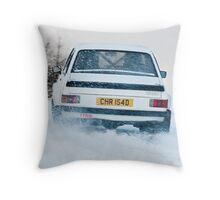 Ice Racing Throw Pillow