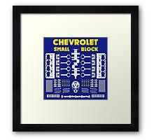 Chevrolet Small Block V8 Engine Parts  Framed Print