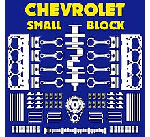 Chevrolet Small Block V8 Engine Parts  Photographic Print