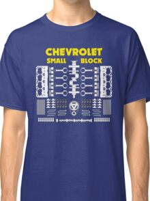 Chevrolet Small Block V8 Engine Parts  Classic T-Shirt
