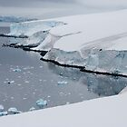 Ice cliffs on the Antarctic continent by mcreighton