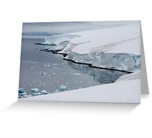Ice cliffs on the Antarctic continent Greeting Card