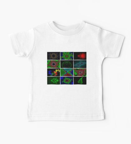 Twelve Fractal Images with Borders Baby Tee