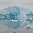 Grounded iceberg Antarctica by mcreighton