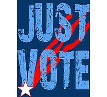 Just Vote Patriotic Voting Design Photographic Print