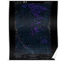 USGS Topo Map Idaho Wapshilla Creek 238675 1963 24000 Inverted Poster