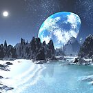 Winter Earth-rise over Alien Shores by SpinningAngel
