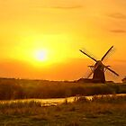 Riverside Windmill by DigitalandPhoto