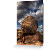 Indiana Sam and the Boulder of Doom Greeting Card