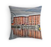 SALTHOUSE DOCK-HDR Throw Pillow