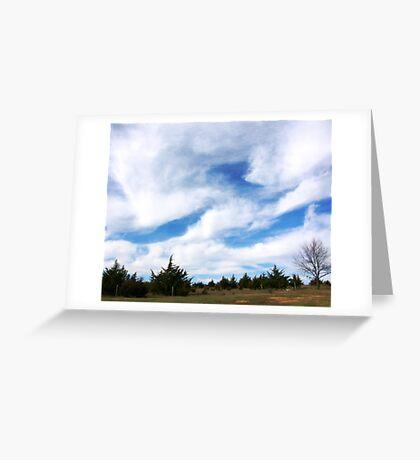 Big Nebraska Sky Greeting Card