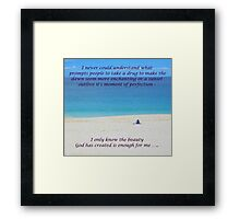 Nature against drugs Framed Print