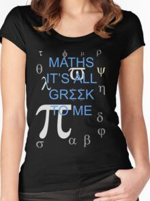 Maths It's All Greek To Me Women's Fitted Scoop T-Shirt