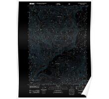 USGS Topo Map Oregon Westfir East 20110810 TM Inverted Poster