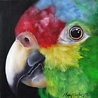 Red-Lored Amazon Parrot  by Mary  Hughes