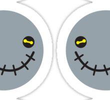 Zombie Voodoo smiling stickers Sticker