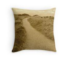Walk through the fields Throw Pillow