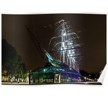 Ship At Night Poster