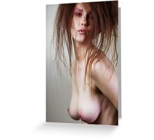 Killer Hair - nude art, sensual art, fine art prints, erotic art Greeting Card